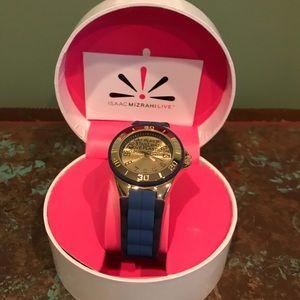 Isaac Mizrahi  Brand New Womans Watch Gold & Blue
